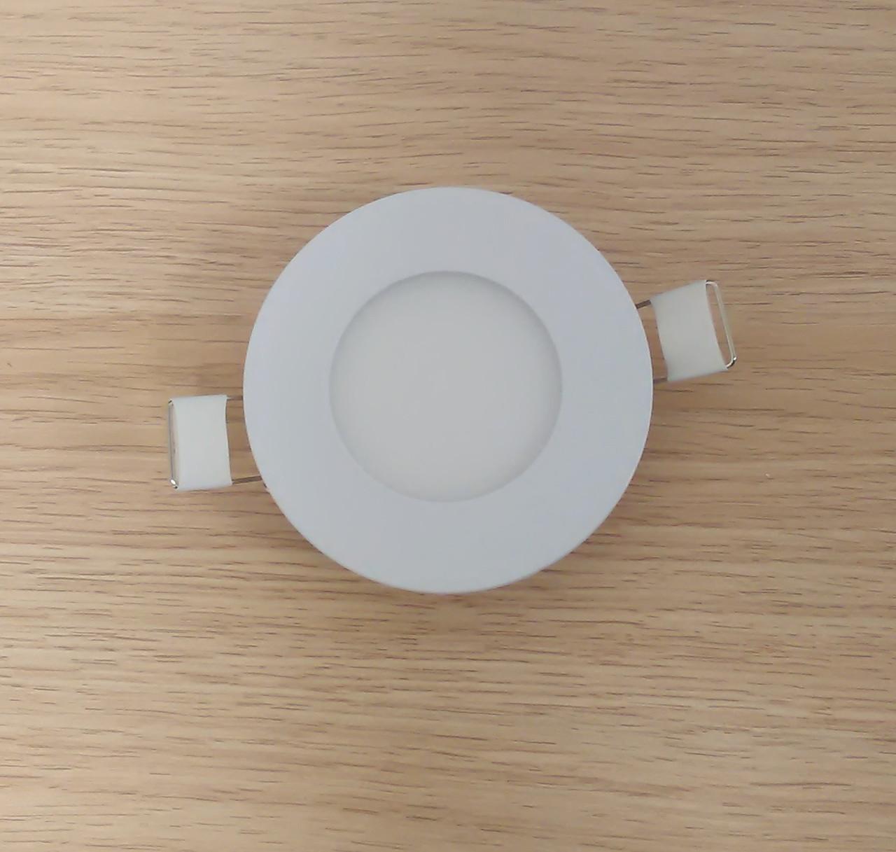 Світильник врізний Світильник LED 3W 6500K/4000К/3000К діаметр 85мм круглий алюмінієвий корпус !