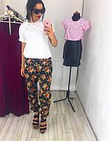Женские свободные штаны из льна (2 цвета)
