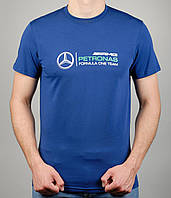 Мужская футболка Puma Mercedes 4116 Тёмно-синяя