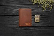Мужской кошелёк обложка ручной работы VOILE vl-cvw1-lbrn-brn, фото 3