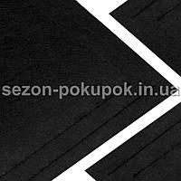 Фетр жесткий 1мм 20 х 25 см  Цена за 1 лист. Цвет - черный