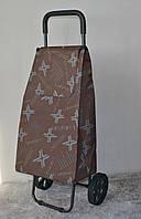 Хозяйственная сумка - тележка на колесиках с железной ручкой и прочными пластиковыми колесами.