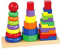 Пирамидка геометрическая Viga toys (50567)