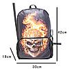 Молодежный рюкзак Череп в огне, фото 7