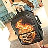 Молодежный рюкзак Череп в огне, фото 2