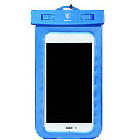 Чехол водонепроницаемый Baseus Waterproof для мобильных телефонов 5.5 inches Blue