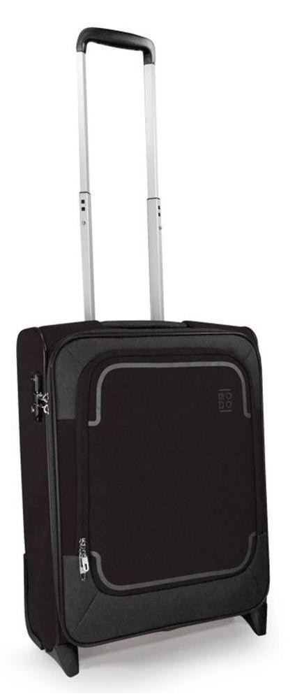 Дизайнерский тканевый малый 2-х колесный чемодан 39 л. Roncato Stargate 425453 01, черный
