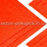 Фетр жесткий 1мм 20 х 25 см  Цена за 1 лист. Цвет - оранж неон