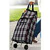 Складна господарська сумка на коліщатках