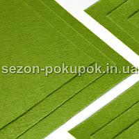 Фетр жесткий 1мм 20 х 25 см  Цена за 1 лист. Цвет - зеленый фисташковый