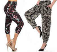Женские цветные штаны и капри