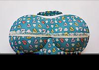Футляр для перевозки купальников бирюзовый с бантиками