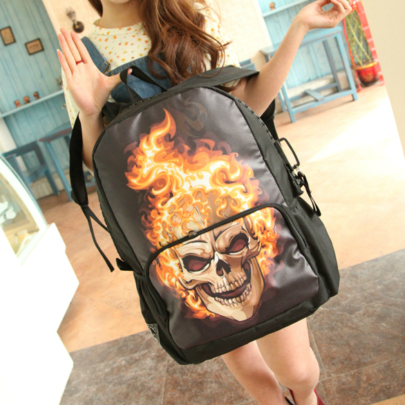 Молодежный рюкзак Череп в огне