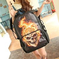 Молодежный рюкзак Череп в огне, фото 1