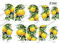 Слайдер -дизайн Лимоны F398