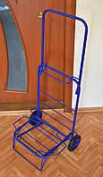 Тележка (кравчучка) хозяйственная, цельнометаллическая, железные колеса на подшипниках, высота 110 см