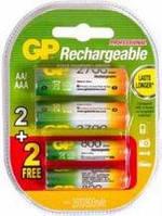 Аккумулятор GP Rechargeable 2+2 ААА / АА 2700 / 800 mAh Ni-MH
