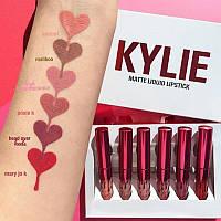 Набор помад Kylie matte liquid lipstick 6 шт