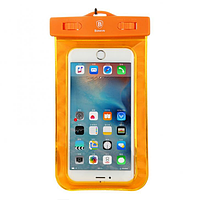 Чехол водонепроницаемый Baseus Waterproof для мобильных телефонов 5.5 inches Orange