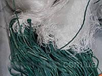 Одностенная рыболовная сеть ячейка 80, ячейка 90, ячейка 100. Сеть китайка 100*3 м, с вшитыми грузами.