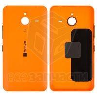 Задняя панель корпуса для моб. телефона Microsoft (Nokia) 640 XL Lumia Dual SIM, оранжевая, с боков. кнопками