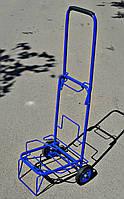 Тележка (кравчучка) хозяйственная, цельнометаллическая, железные колеса на подшипниках, высота 100 см, фото 1