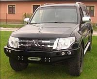 Бампер передний для Mitsubishi Pajero IV (с 2006 года) с кенгурятником