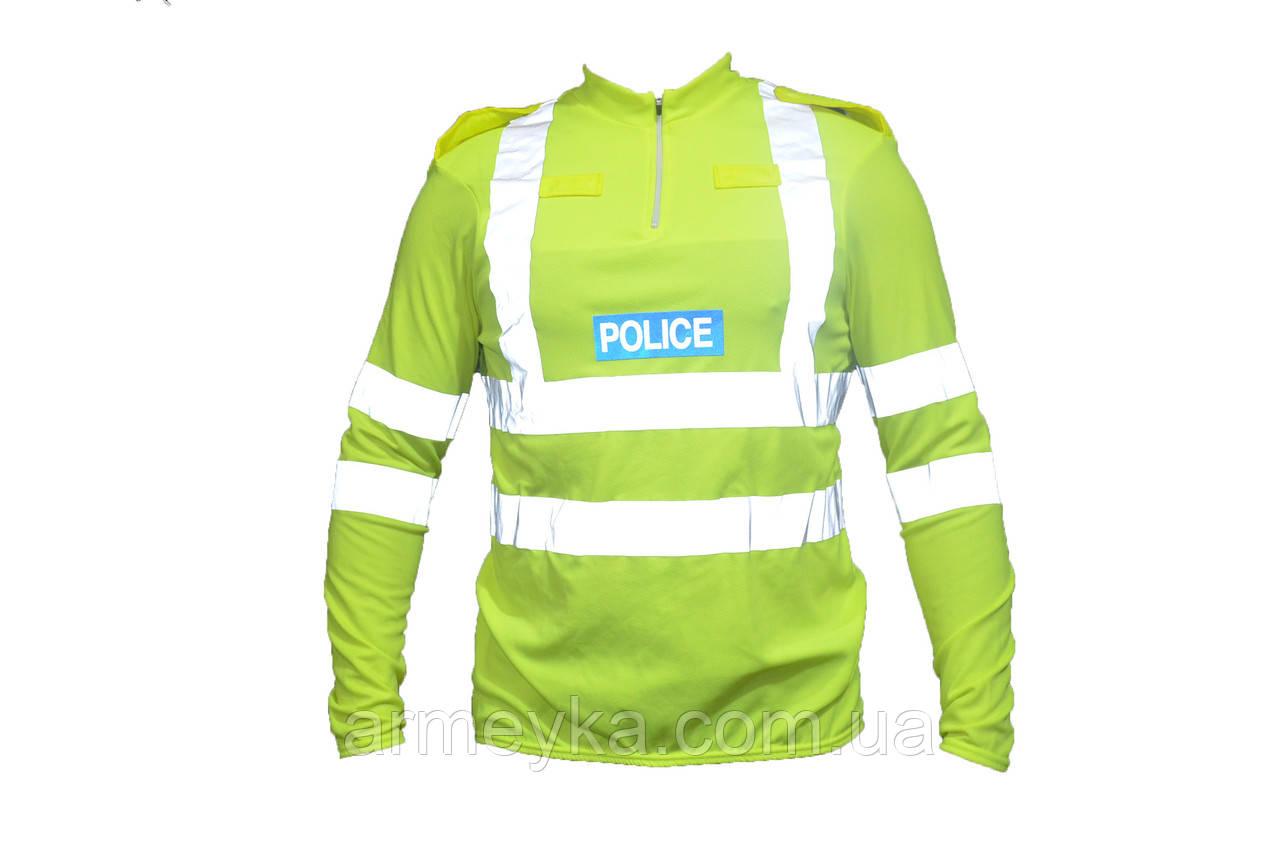 CoolMax светоотражающая футболка-реглан полиции Великобритании. Оригинал.