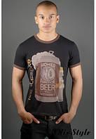 Мужская футболка Попей черный