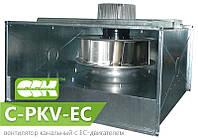 Вентилятор канальный радиальный прямоугольный с ЕС-двигателем C-PKV-EC