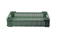 Ящик пластиковый 600x400x115, 10кг (2 сорт), исп. II (чёрный, серый)