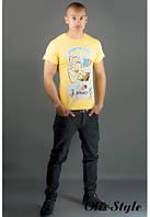 Мужская футболка Попей желтый