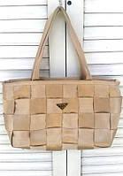 Тканевая сумка Prada копия, Скидка