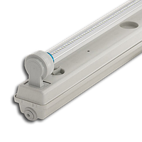 Корпус светильника Atom 760 158 1*1500мм для светодиодных LED ламп T8 IP65 (Германия) герметичный промышленный, фото 1