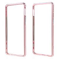 Чехол бампер металл Aluminium Alloy для OnePlus 3 | 3T розовый