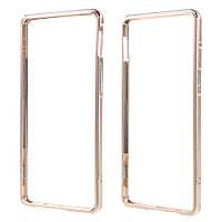 Чехол бампер металл Aluminium Alloy для OnePlus 3 | 3T золотой