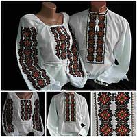 """Украинские вышиванки для семьи """"Фантазия"""" на домотканке, 42-58 р-ры."""