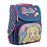 """Рюкзак школьный каркасный """"1 вересня"""" H-11 Barbie jeans"""