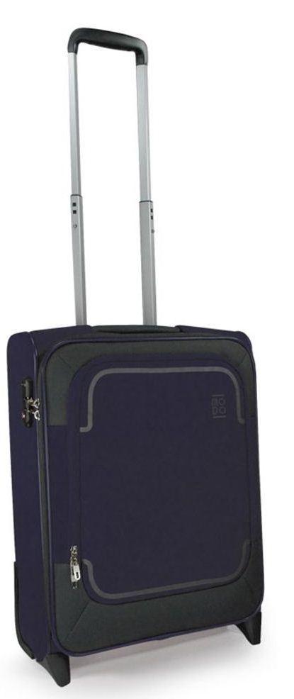Современный тканевый малый 2-х колесный чемодан 39 л. Roncato Stargate 425453 23, темно синий
