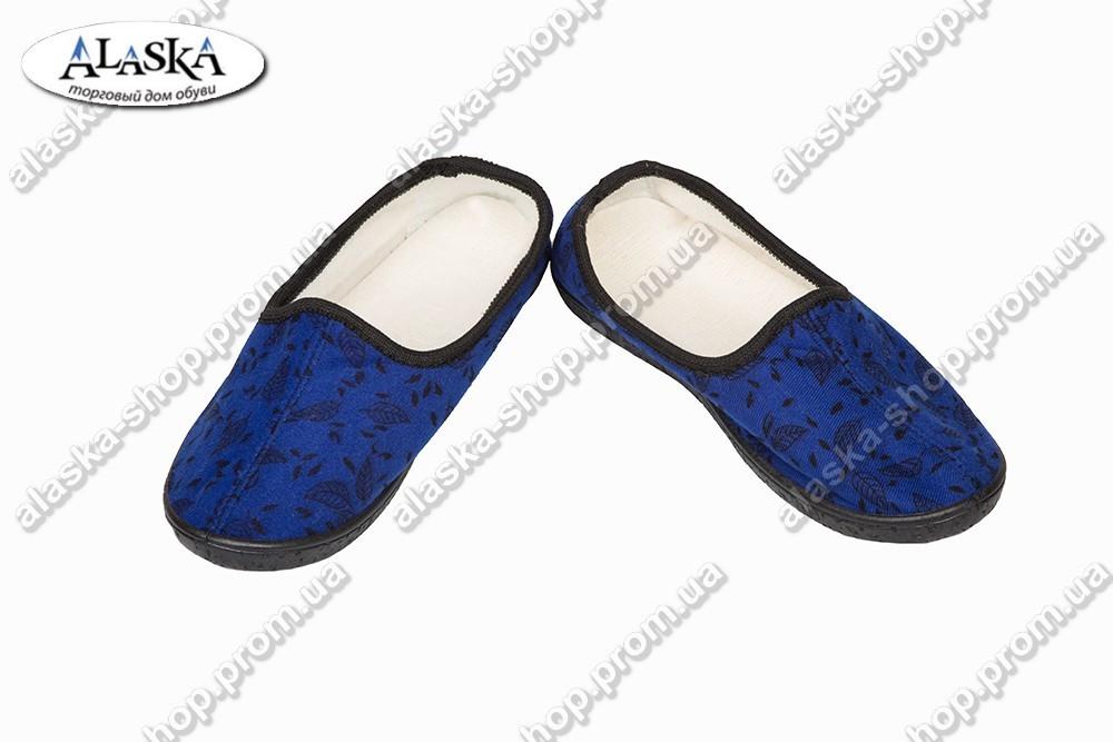 Женские тапки синие (Код: Т-109)