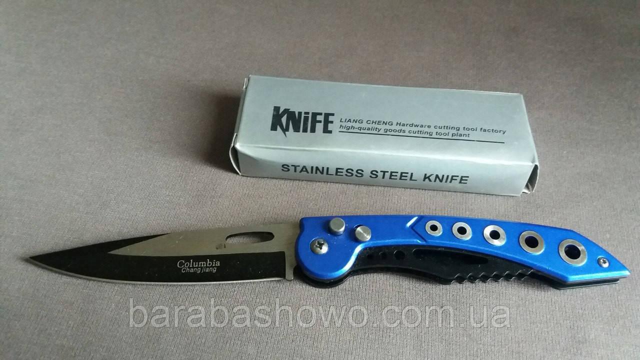 Складной нож выкидной Columbia 820 blue