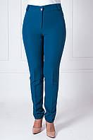 Женские брюки в деловом стиле с манжетами, Адрианна темно-бирюзового цвета