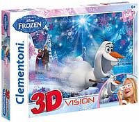 """Детские пазлы """"Frozen"""" 104 Clementoni 3D vision (20603)"""
