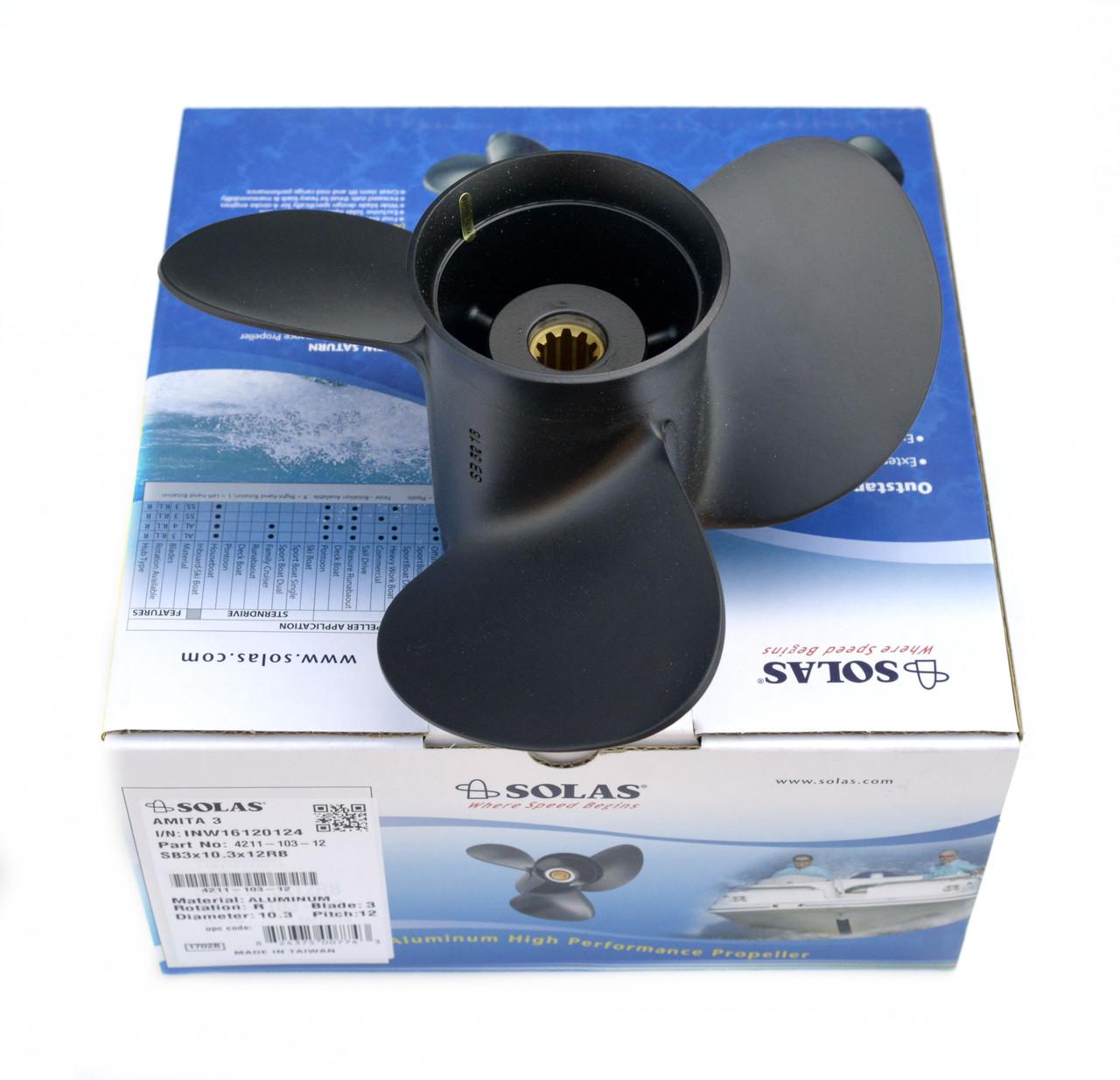 Винт гребной для лодочного мотора Solas Suzuki 9.25x12