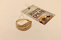 Золотое кольцо с камнями. Вес 2,28 грамм. Размер 18