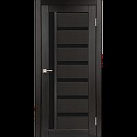 Дверь межкомнатная VALENTINO DELUXE венге черное стекло