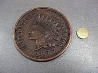 Медаль настольная америка 1 цент 1877