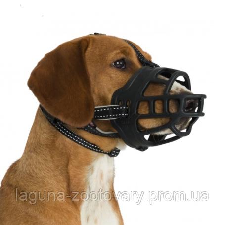 """Намордник силиконовый  """"Flex"""" М, 21см, черный,  для собак"""