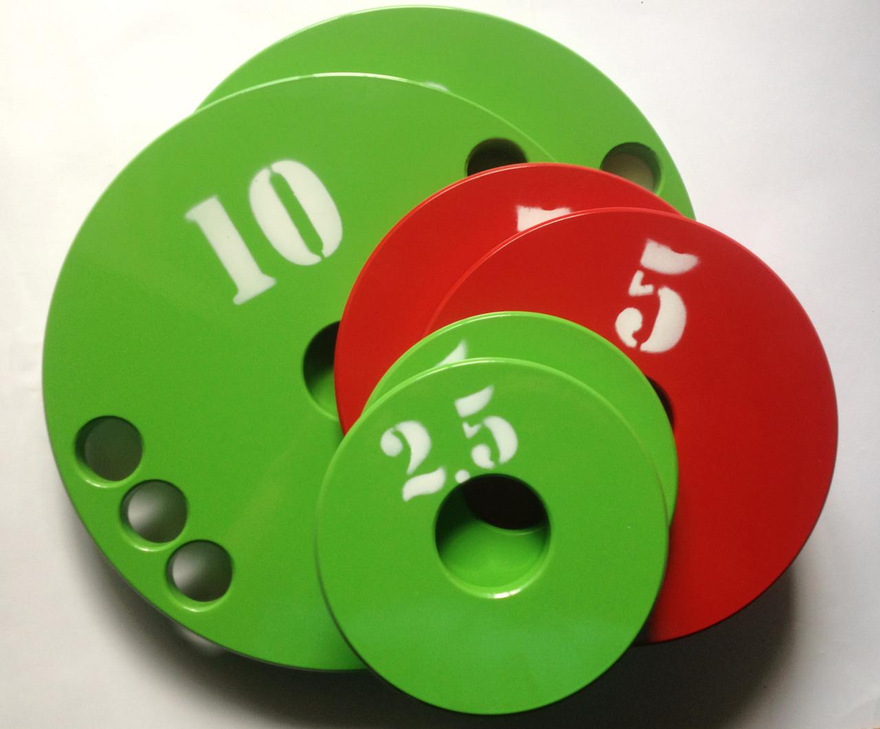 Набор дисков (блинов) для штанги 1-2.5-5-10-20 кг (77 кг)