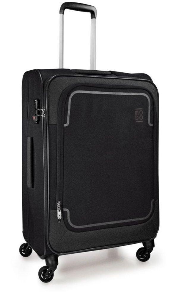 Дизайнерский тканевый 4-х колесный чемодан среднего размера 70 л. Roncato Stargate 425472 01, черный